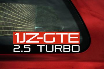 1JZ-GTE 2.5 Turbo sticker for Toyota Supra 2.5 /Soarer GT/  Crown/ Chaser,1jzgte